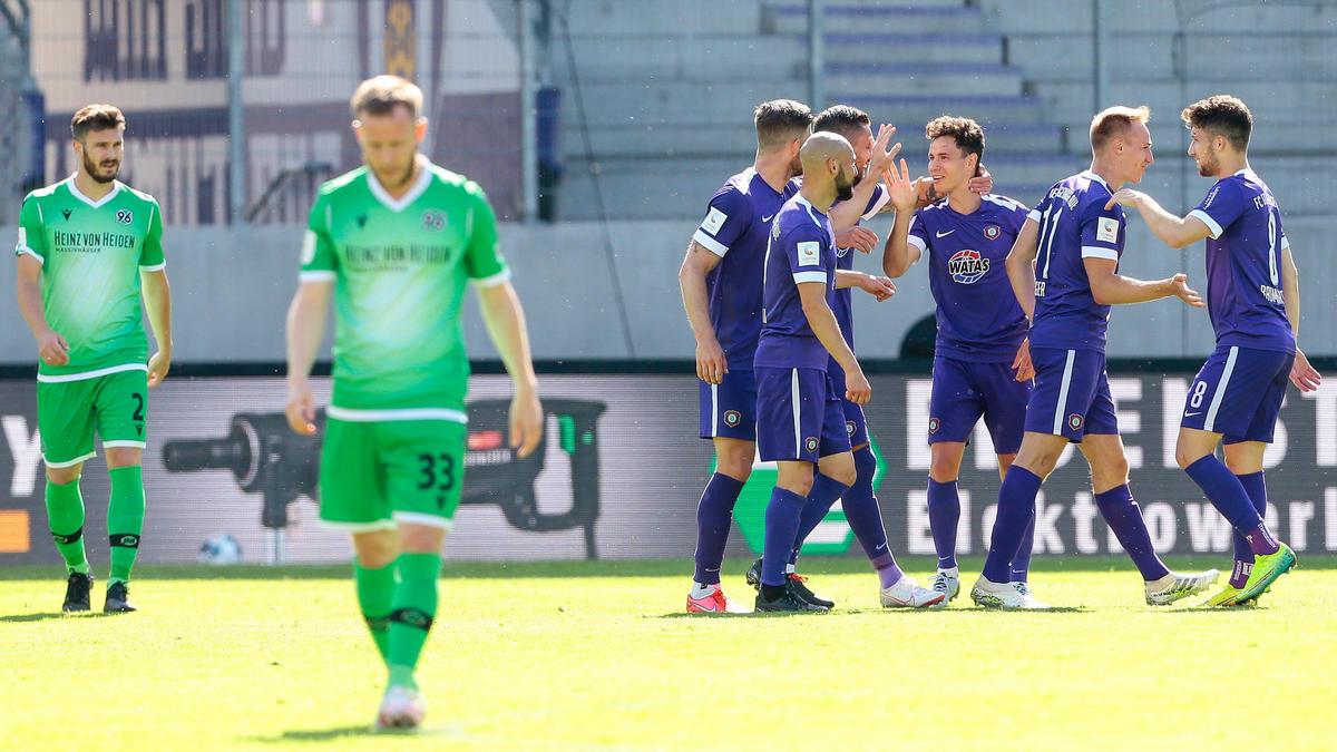 Hannover 96 verlor gegen Erzgebirge Aue