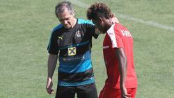 Marcel Koller (l.) trainierte David Alaba bei der österreichischen Nationalmannschaft