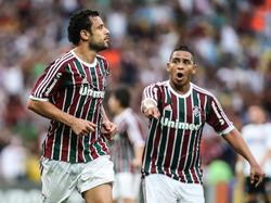 Fred (izq.) vistiendo la camiseta del Fluminense. (Foto: Getty)