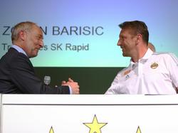 Das Erfolgsduo Andreas Müller und Zoran Barisic bleibt Rapid erhalten