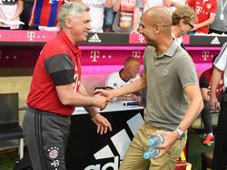 Ancelotti (l.) soll mit den Bayern den CL-Titel holen