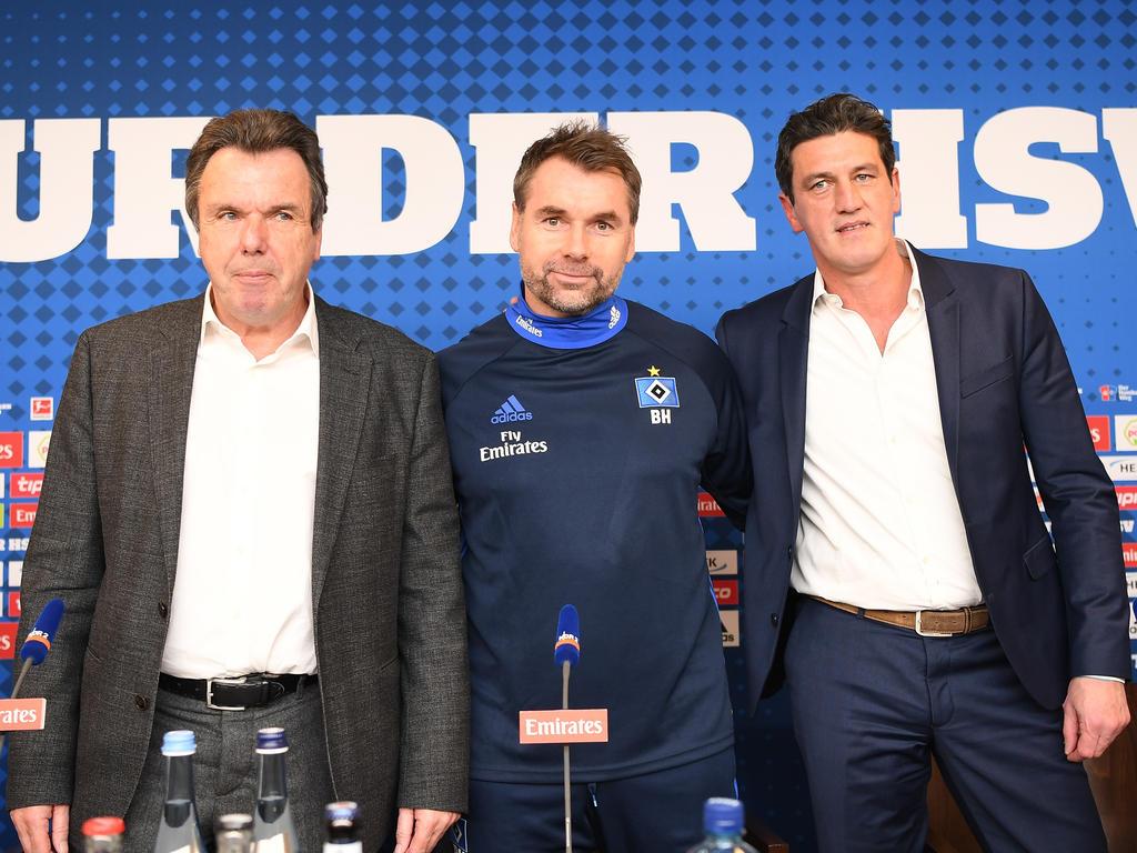Werden den HSV wohl verlassen: Heribert Bruchhagen, Bernd Hollerbach und Jens Todt