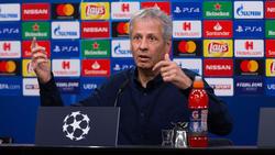 BVB-Trainer Lucien Favre ließ den Einsatz von Goalgetter Alcácer offen