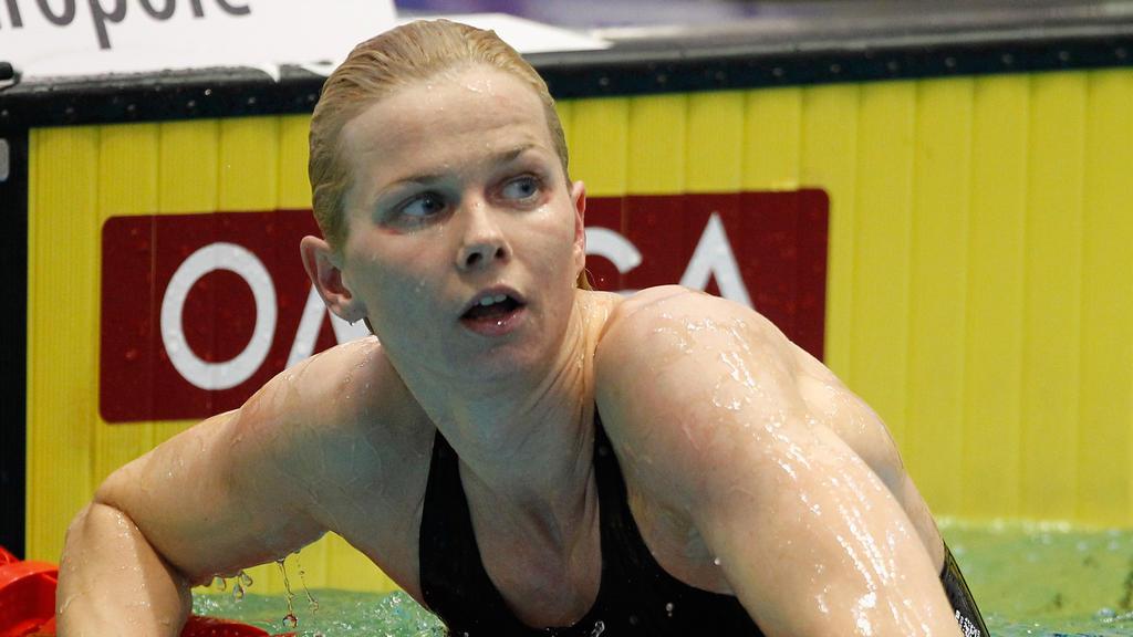 Die ehemalige Olympiasiegerin Britta Steffen wird geehrt