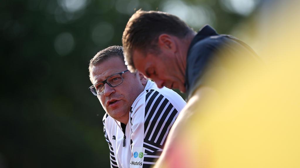 Max Eberl (l.) hofft auf einen Verbleib von Hazard, Dieter Hecking äußert sich zu aufkommenden Schalke-Gerüchten