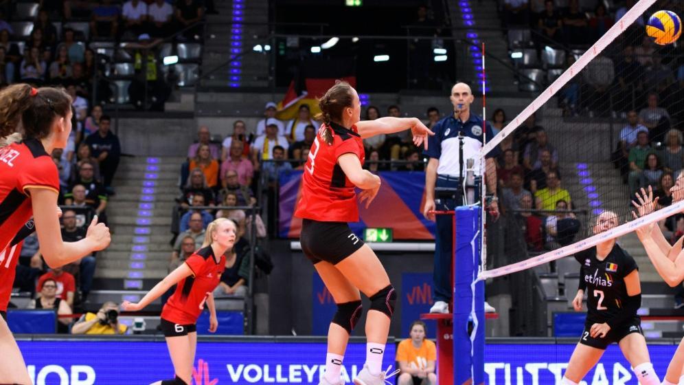 Die deutschen Volleyballerinnen besiegen Belgien mit 3:1