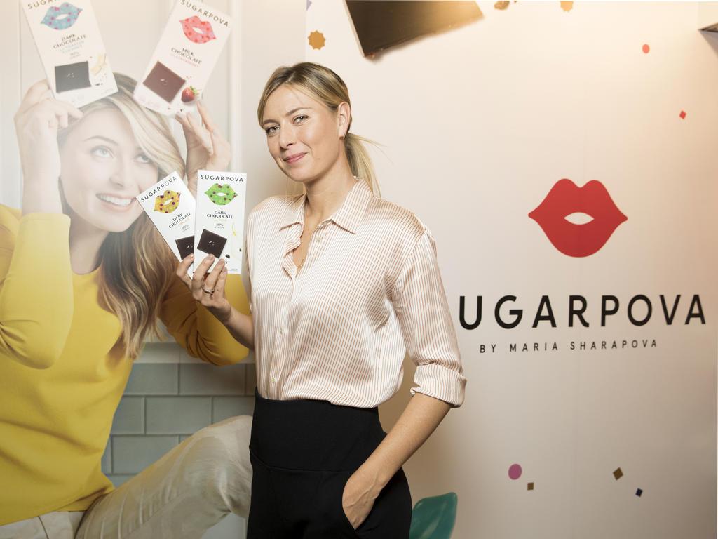Maria Sharapova macht Werbung für ihre eigene Marke