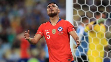 Paulo Díaz con Chile durante la Copa América 2019.