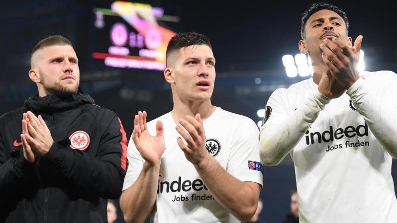Eintrachts Büffelherde 2019: Ante Rebic, Luka Jovic und Sébastien Haller