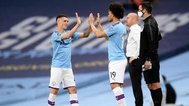 Manchester City hat Burnley beim Comeback von Leroy Sané keine Chance gelassen