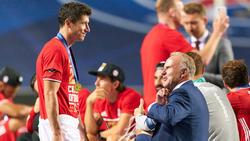 Erfolgsgaranten beim FC Bayern: Robert Lewandowski und Karl-Heinz Rummenigge