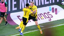 Erling Haaland (r.) und Jadon Sancho vom BVB gehören zu den Nominierten