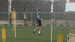 Robert Lewandowski musste das Training des FC Bayern abbrechen