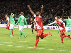 Vágner Love bejubelt am 14. Februar 2016 sein erstes Tor im Dress des AS Monaco.