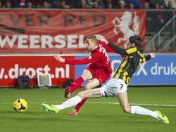 Luc Castaignos snoerde critici de mond met een sterk optreden tegen Vitesse.