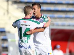 Florian Kainz feierte ein geglücktes Debüt bei Rapid
