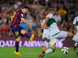 Lionel Messi erzielt das 1:0 gegen Elche