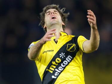 Kees Kwakman baalt als een stekker tijdens het competitieduel NAC Breda - FC Utrecht. (28-03-2014)