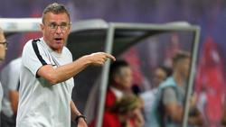 Leipzigs Trainer Ralf Rangnick konnte zufrieden sein