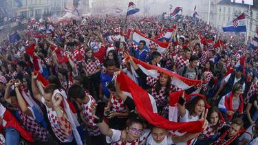Die kroatischen Fans dürfen gegen England nicht ins Stadion