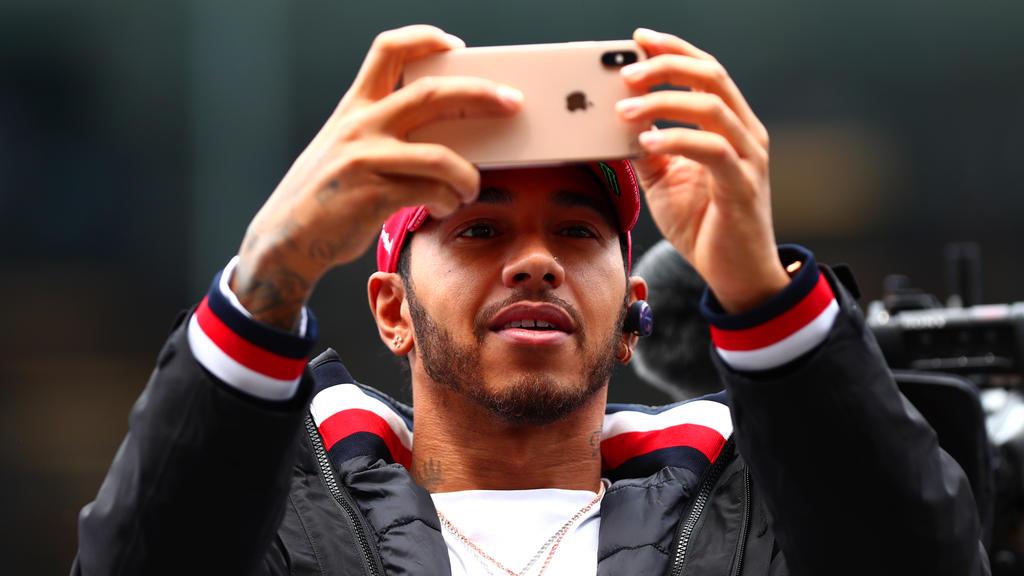 Lewis Hamilton traf einen jungen Fan