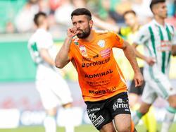 Dario Tadić und der TSV Hartberg nahmen drei Punkte aus Wien-Hütteldorf mit