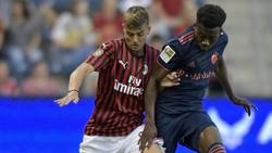 Daniel Maldini (l.) stand erstmals im Kader AC Mailands