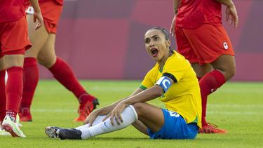 Brasiliens Superstar Marta hatte auf eine Medaille gehofft