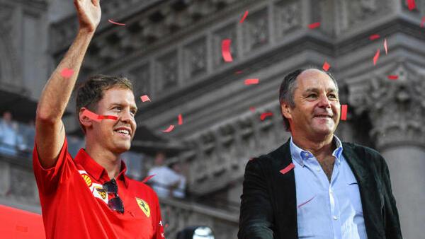Gerhard Berger (r.) beim großen Ferrari-Event im September 2019 in Mailand