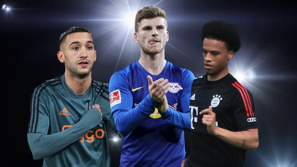Hakim Ziyech, Timo Werner und Leroy Sané wechseln in diesem Sommer den Klub