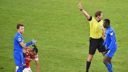 Hoffenheims Geiger sah Rot