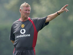 Alex Ferguson beim Training