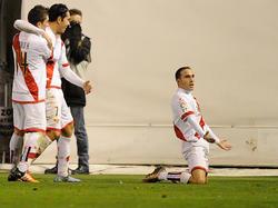 Nacho bejubelt seinen Führungstreffer gegen Atlético