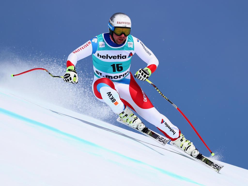 Beat Feuz gewann die abschließende Abfahrt in St. Moritz