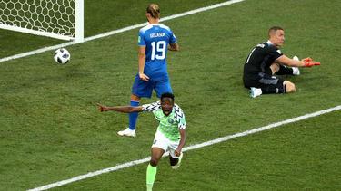 Ahmed Musa se convirtió en el héroe de Nigeria con un doblete. (Foto: Getty)