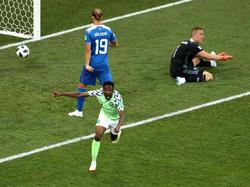 Ahmed Musa erzielte beide Treffer für die Super Eagles