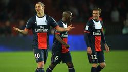 Zlatan Ibrahimovic (l.) und David Beckham (r.) gehen kuriose Wette ein