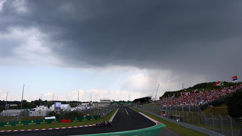 Über dem Hungaroring ziehen dunkle Wolken auf
