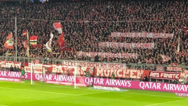 Die Bayern-Fans solidarisierten sich mit den BVB-Ultras