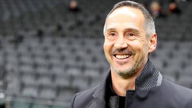 Adi Hütter von Eintracht Frankfurt ist erleichtert, dass sein Team wieder trainieren kann