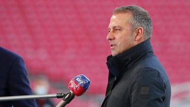 Hansi Flick verzichtete in der Startaufstellung des FC Bayern auf Leroy Sané