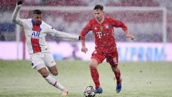 Joshua Kimmich (r.) vom FC Bayern war gegen PSG nicht frei von Fehlern