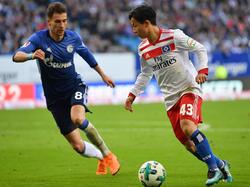 Tatsuya Ito (r.) ist ein Hoffnungsträger beim Hamburger SV