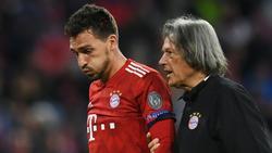 Bayern-Verteidiger Mats Hummels (l.) erlitt eine Kopfverletzung