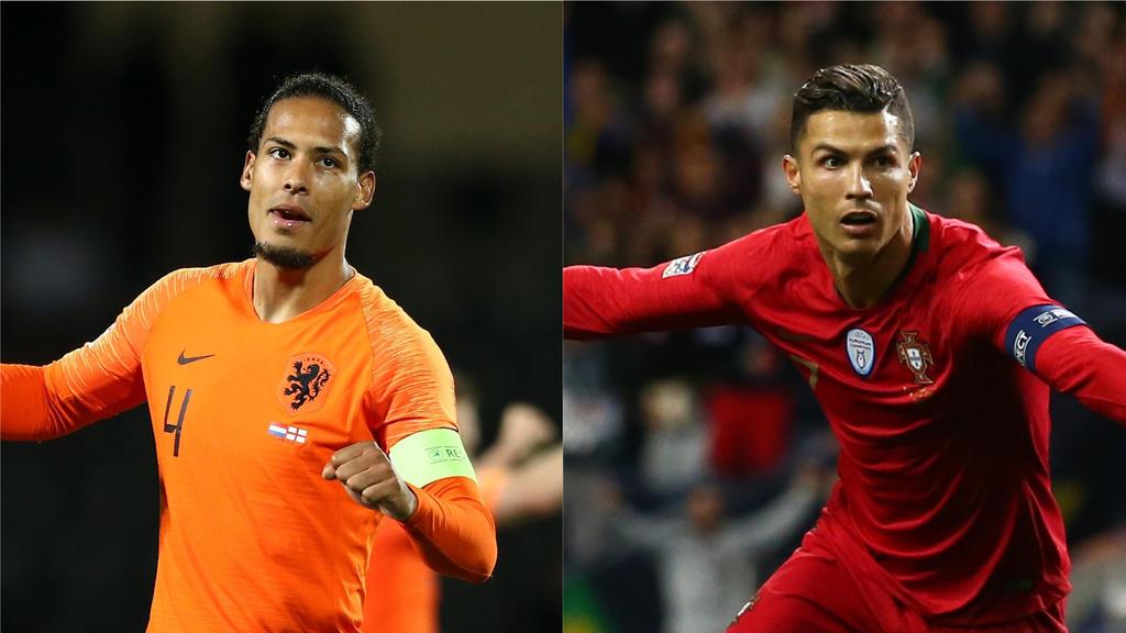 Van Dijk (li.) und Ronaldo (re.) wollen das Finale in der Nations League gewinnen