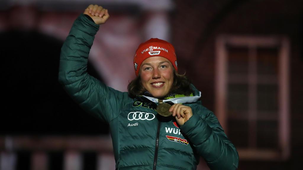 Kann es auch ohne Ski: Ex-Biathletin Laura Dahlmeier