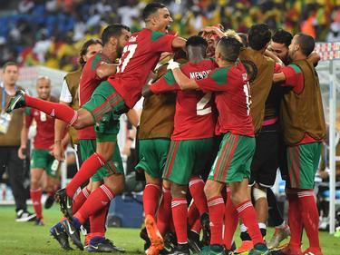 Alegría en Marruecos en su choque contra Togo. (Foto: Getty)