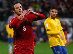 Nemanja Maksimović en el Mundial Sub-20 contra Brasil. (Foto: Getty)