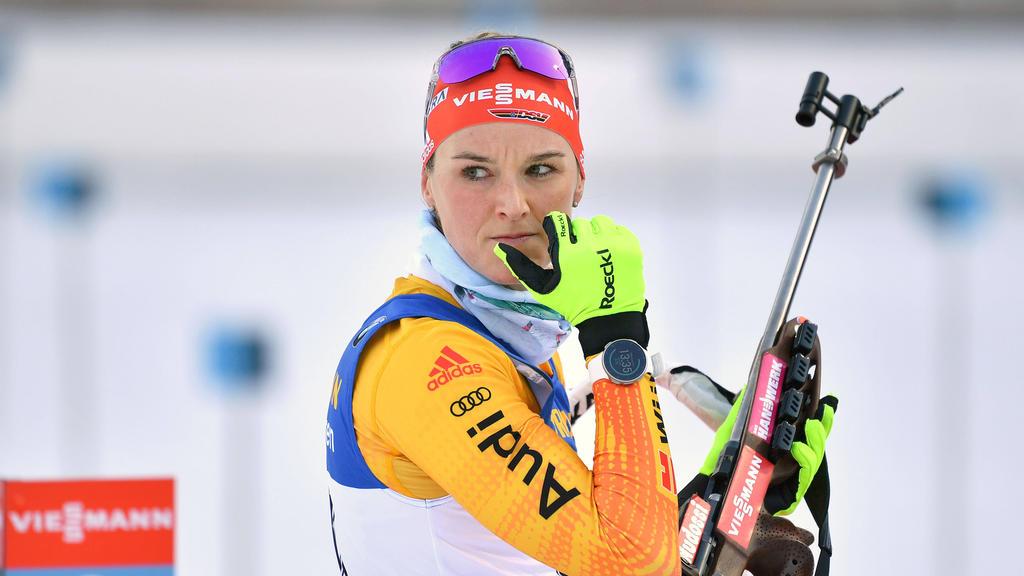 Denise Herrmann ist zur Zeit die beste deutsche Biathletin