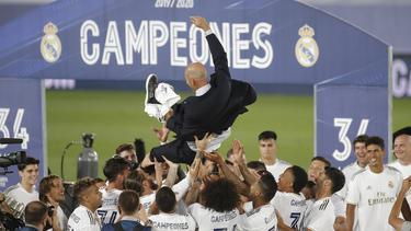 Zinédine Zidane hat Real Madrid zur 34. Meisterschaft geführt